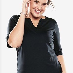 Swimsuits For All NWT 3/4 Sleeve Swim Tee, 26/28